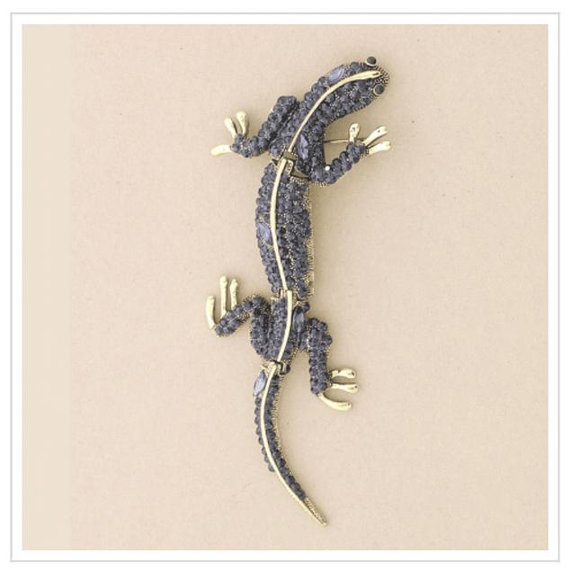 Prendedor de lagartija azul