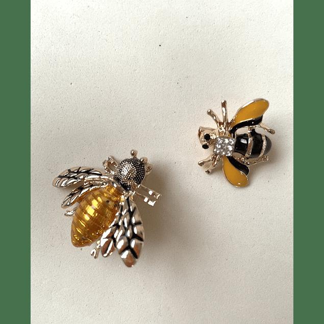 Prendedor Dúo de abejas verde