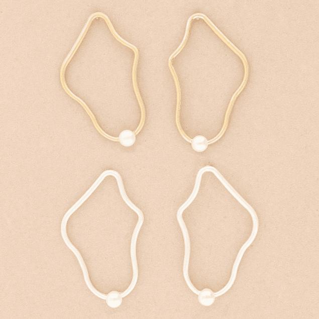 Aros Irregular perla