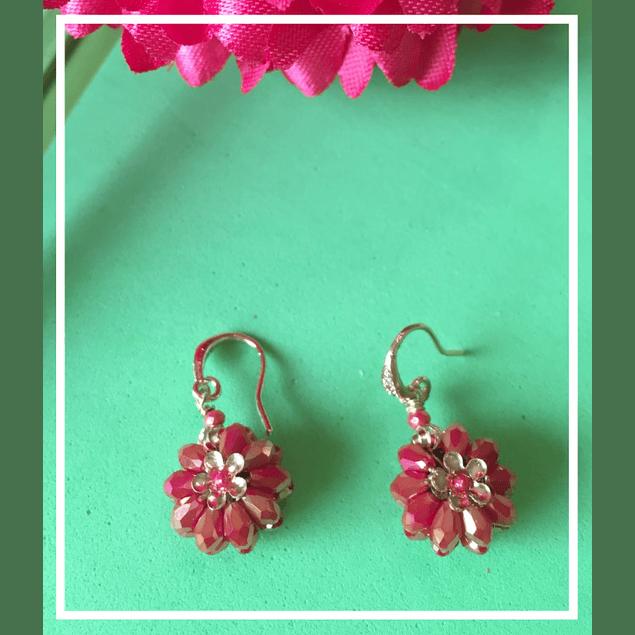 Aros flor roja