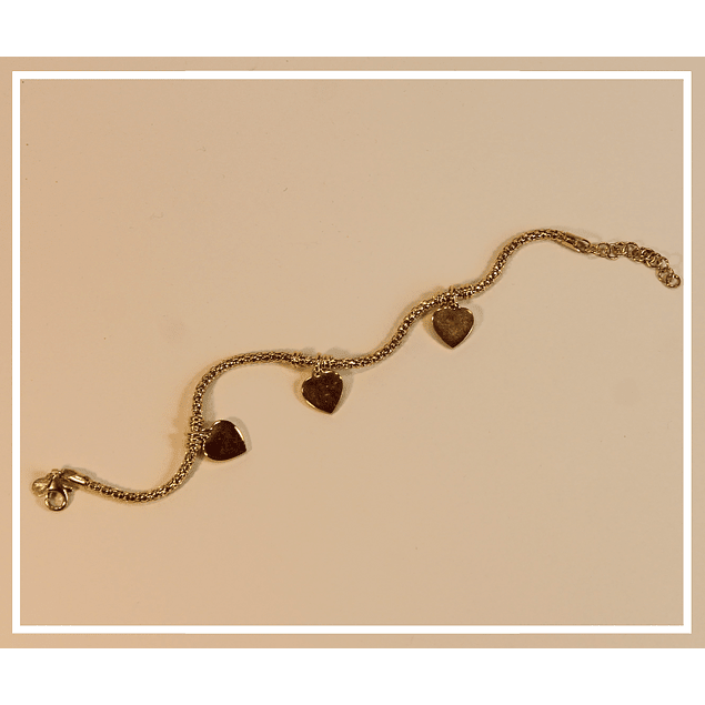 Pulsera plata con bano de oro 18k