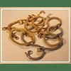 Pulsera de plata tejida con bano oro rosado 18k