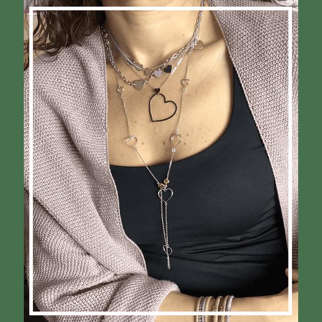 Collar plata corazon cadena