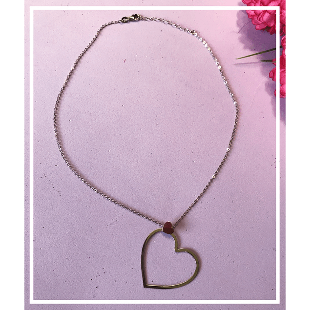 Collar corazon doble