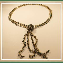 Collar cristales verdes