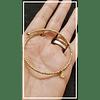 Pulsera de plata Ale dorada baño oro 18k