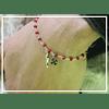 Pulsera plata Trebol/ Pimenton Roja