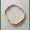 Pulsera cuadrada plata italiana Antolina con baño oro 18k