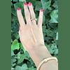 Anillo ajustable plata italiana Begoña con baño oro 18k