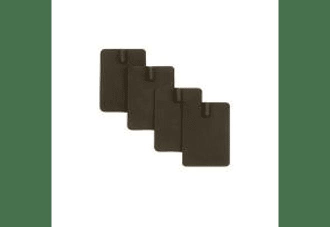 Electrodos de Goma 4 x 6 cm.
