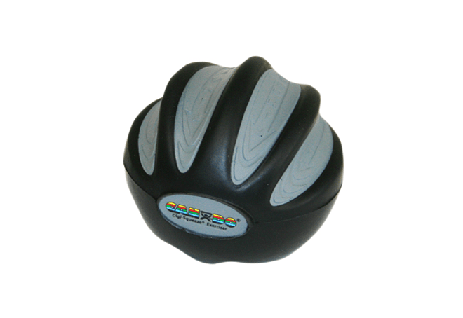 CanDo® Digi-Squeeze® Ejercitador de mano Negro X Heavy, Pequeño