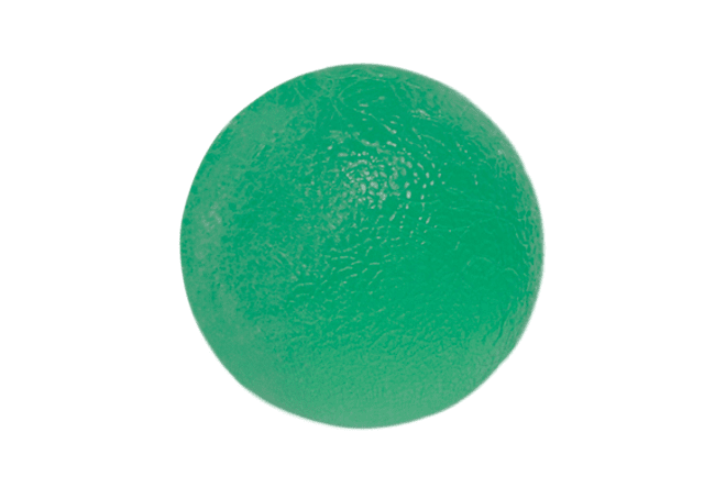 Gel Squeeze Ball CanDo® Tamaño Standar, Color Verde Medium