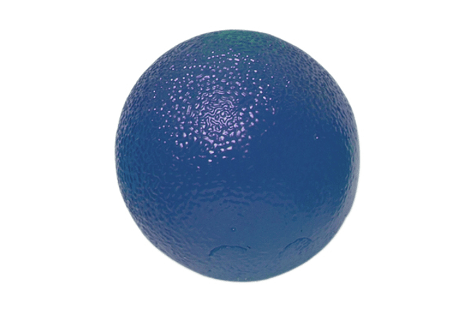 Gel Squeeze Ball CanDo® Tamaño Standar, Color Azul Heavy