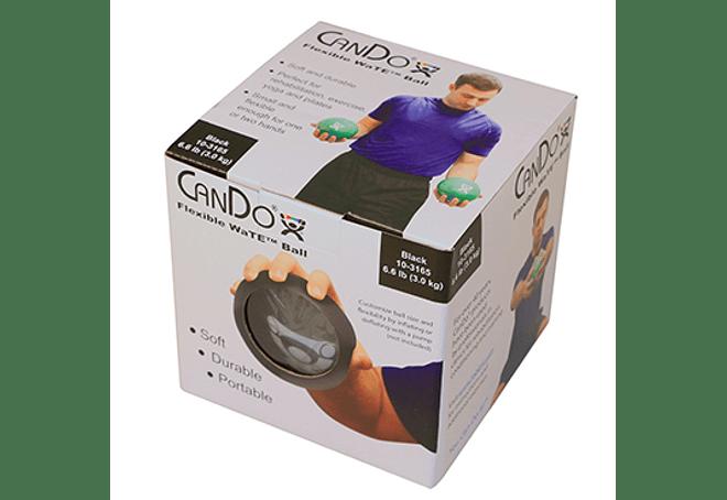 Balón Medicinal CanDo®  13 cm de diámetro, Color Negro, 3 Kilos