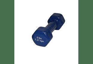 Mancuerna Recubierta de Vinilo Azul - 5 lbs