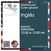 Matricula curso grupal Inglés SÁBADO de 10:30 A 13:30 hrs.