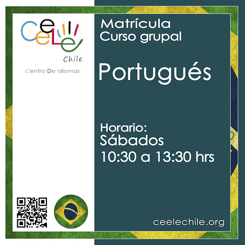 Matricula curso grupal Portugués SÁBADO de 10:30 A 13:30 hrs.