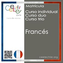 Matricula curso Individual/Duo/Trio de Francés