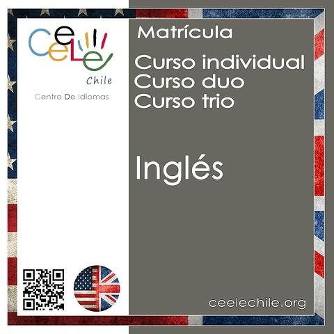 Matricula curso Individual/Duo/Trio de Inglés