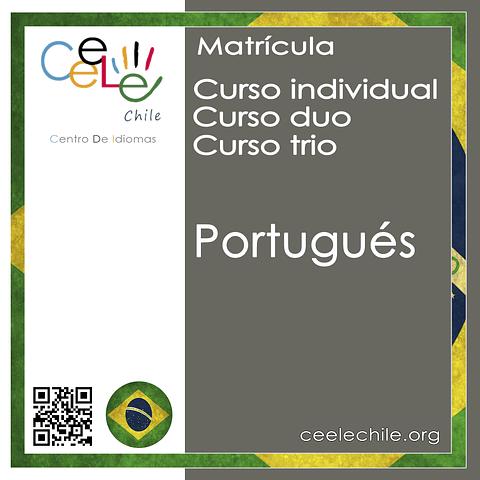 Matricula curso Individual/Duo/Trio de Portugués