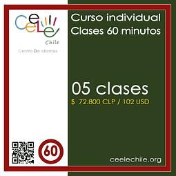 Curso Individual 05 clases de 60 minutos