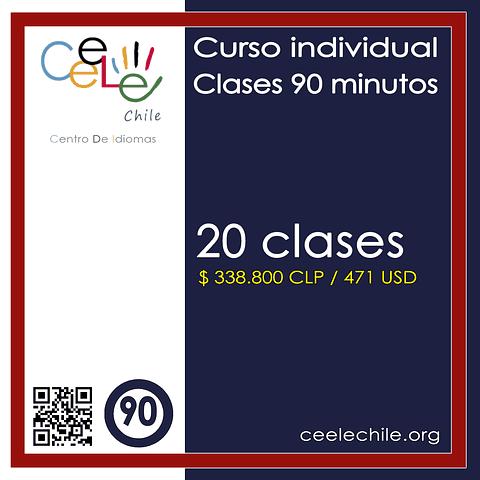 Curso Individual 20 clases de 90 minutos