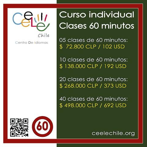 Curso Individual 40 clases de 60 minutos