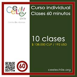 Curso Individual 10 clases de 60 minutos