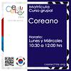 Matricula curso grupal Coreano LUNES Y MIERCOLES de 10:30 A 12:00 hrs.