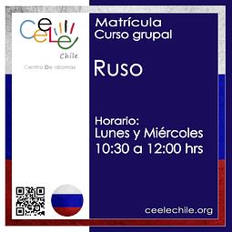 Matricula curso grupal ruso LUNES Y MIERCOLES de 10:30 A 12:00 hrs.