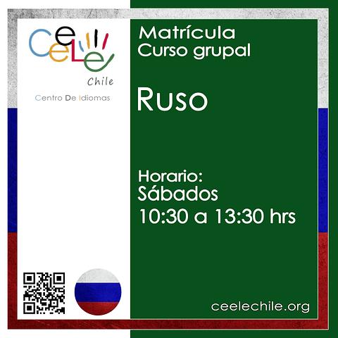 Matricula curso grupal Ruso SÁBADO de 10:30 A 13:30 hrs.