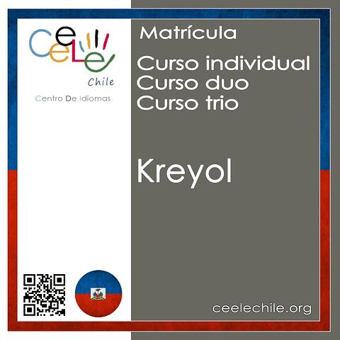 Matricula curso Individual/Duo/Trio de Kreyol