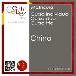 Matricula curso Individual/Duo/Trio de Chino