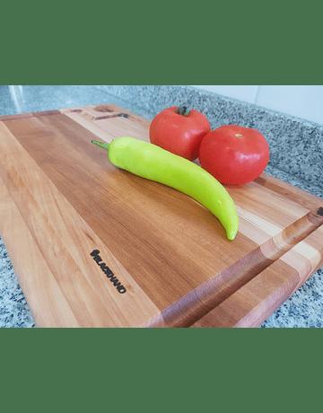 Tabla para picar de madera de seleccionada de lenga, única