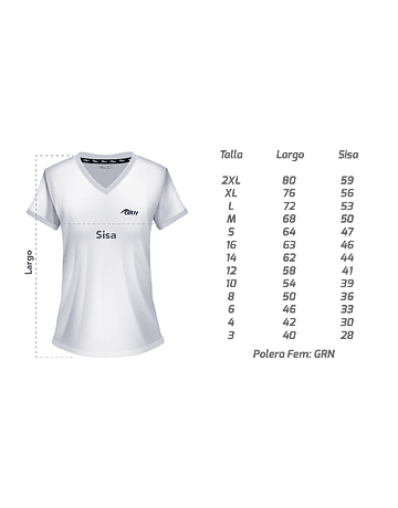 Polera Deportiva Dama PD013