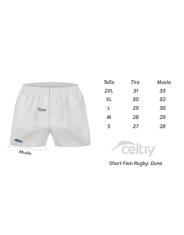 Short Rugby Dama RSF001