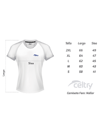 Camiseta de entrenamiento rugby Dama RNL002
