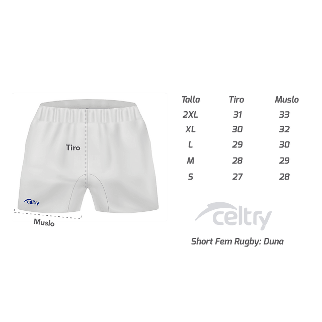 Short Rugby Mujer RSF001