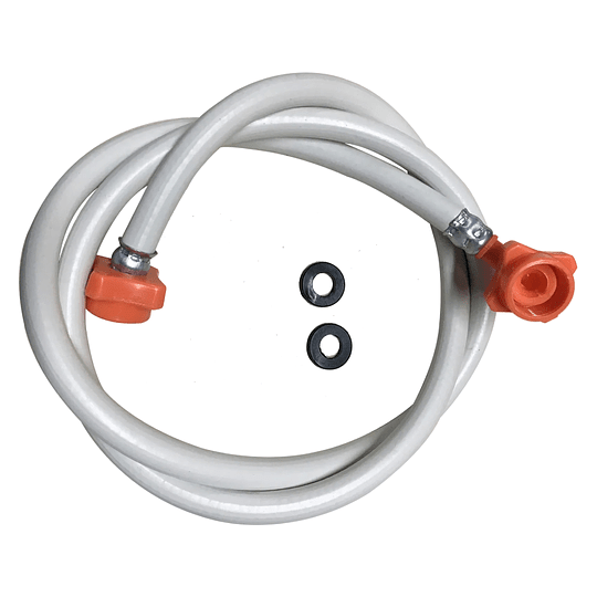 Manguera Blanca Universal de Entrada 2,40 mts Agua Caliente Lavadora Digital CR440027   Repuestos de lavadora
