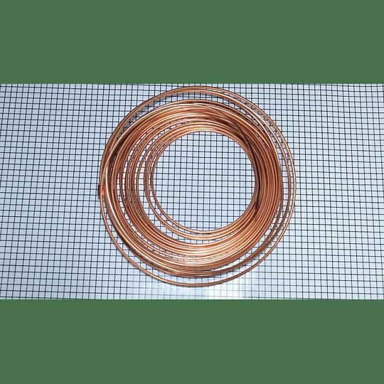 Rollo Tuberia Flex 1/4  x 15,24 metros Cobre Flex Nevera CR441333