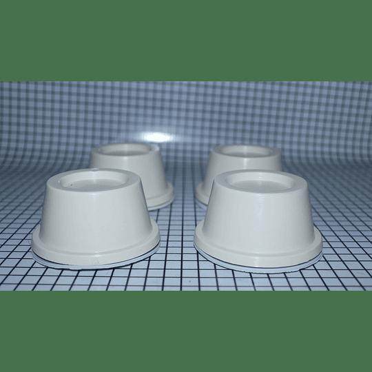 Bases Blancas Universal Lavadora Pack 4 Unid CR440582  | Repuestos para lavadora