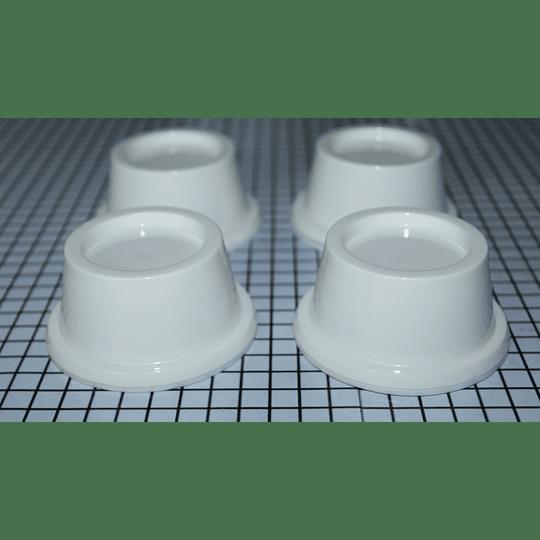 Juego de bases blancas plásticas Lav. Pack 4 Unid CR440921