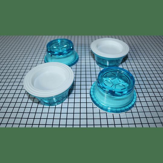Juego de bases transparentes Lavadora Plástico CR440495