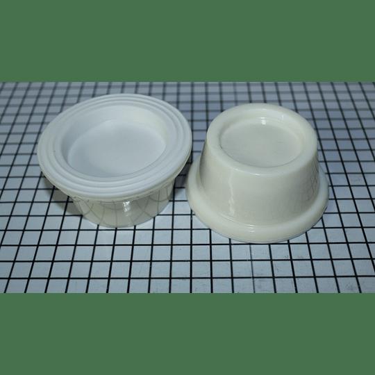 Juego de bases beige plásticas Lav Pack 4 Unid CR440922