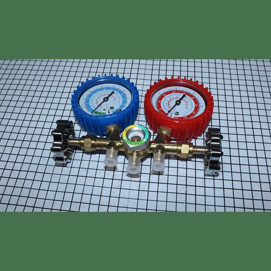 Juego de manómetro Para Gas R22. R134A. R410A Universal Nevera CR441148
