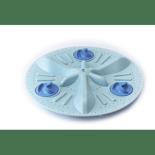 Agitador Plano Mediano 3 Mariposa Azul 38 cm Lavadora Electrolux CR440546 FOT789