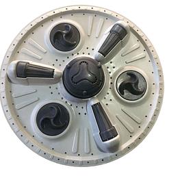 Agitador rodillos  38 cm Lavadora LG CR440743
