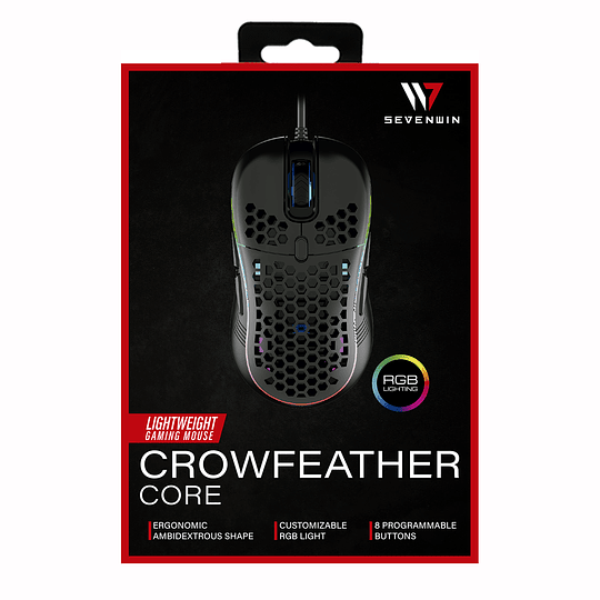 Mouse Gamer Seven Win Crow Feather