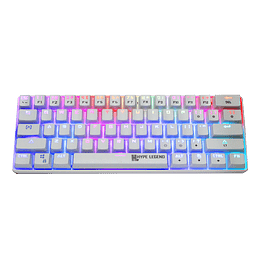 Teclado Mecánico Gamer Hypelegend Rebel White - Switch red
