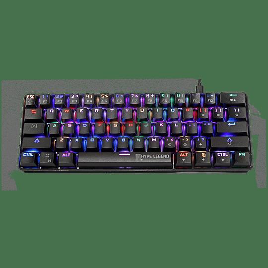 Teclado Mecánico Gamer Hypelegend Rebel Black - Switch Blue